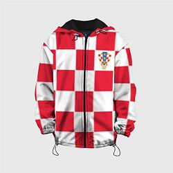 Куртка с капюшоном детская Сборная Хорватии: Домашняя ЧМ-2018 цвета 3D-черный — фото 1