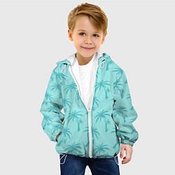 Детская 3D-куртка с капюшоном с принтом GTA VC: Blue Palms, цвет: 3D-белый, артикул: 10151957105458 — фото 2