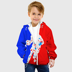 Детская 3D-куртка с капюшоном с принтом Уличный баскетболист, цвет: 3D-белый, артикул: 10153727505458 — фото 2
