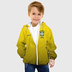 Детская 3D-куртка с капюшоном с принтом Brazil Team: WC 2018, цвет: 3D-белый, артикул: 10154614505458 — фото 2