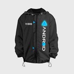 Куртка с капюшоном детская RK800 Android цвета 3D-черный — фото 1