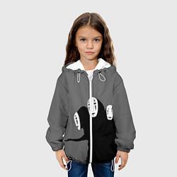 Детская 3D-куртка с капюшоном с принтом Унесенные призраками, цвет: 3D-белый, артикул: 10155872305458 — фото 2