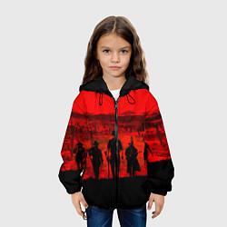Куртка с капюшоном детская RDR 2: Sunset цвета 3D-черный — фото 2