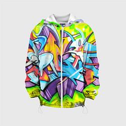 Детская 3D-куртка с капюшоном с принтом Неоновая кислота, цвет: 3D-белый, артикул: 10173631705458 — фото 1