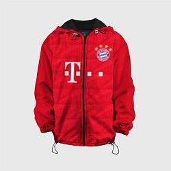 Детская 3D-куртка с капюшоном с принтом FC Bayern: Home 19-20, цвет: 3D-черный, артикул: 10180408705458 — фото 1