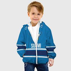 Детская 3D-куртка с капюшоном с принтом Сборная Финляндии, цвет: 3D-белый, артикул: 10181193705458 — фото 2