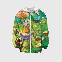 Куртка с капюшоном детская Ливнерог и Джейк цвета 3D-белый — фото 1