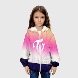 Детская 3D-куртка с капюшоном с принтом TWICE, цвет: 3D-белый, артикул: 10193084305458 — фото 2