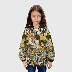 Детская 3D-куртка с капюшоном с принтом DC Comics, цвет: 3D-черный, артикул: 10196124705458 — фото 2