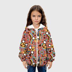 Куртка с капюшоном детская Время приключений Jake цвета 3D-белый — фото 2