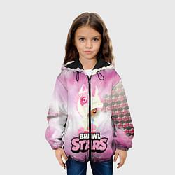 Куртка с капюшоном детская Leon Unicorn Brawl Stars цвета 3D-черный — фото 2