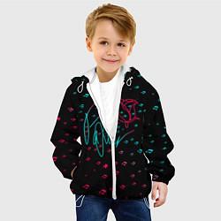 Куртка с капюшоном детская ТИКТОКЕР - PAYTON MOORMEIE цвета 3D-белый — фото 2