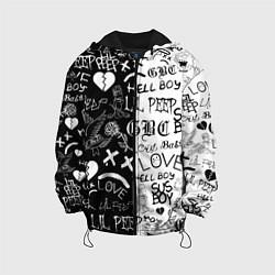 Куртка с капюшоном детская LIL PEEP LOGOBOMBING цвета 3D-черный — фото 1