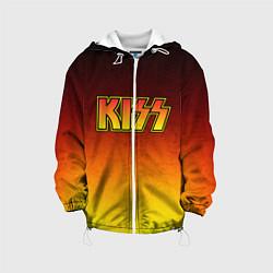 Детская 3D-куртка с капюшоном с принтом KISS, цвет: 3D-белый, артикул: 10204546505458 — фото 1