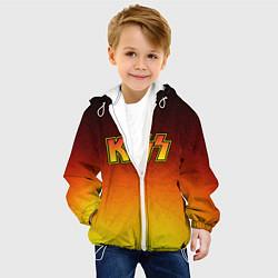 Куртка с капюшоном детская KISS цвета 3D-белый — фото 2