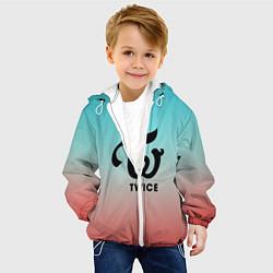 Детская 3D-куртка с капюшоном с принтом TWICE, цвет: 3D-белый, артикул: 10205734505458 — фото 2