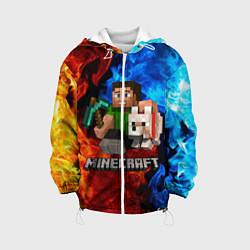 Куртка 3D с капюшоном для ребенка MINECRAFT - фото 1