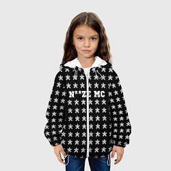 Детская 3D-куртка с капюшоном с принтом Noize MC, цвет: 3D-белый, артикул: 10207036105458 — фото 2