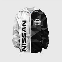 Детская 3D-куртка с капюшоном с принтом NISSAN, цвет: 3D-белый, артикул: 10208569905458 — фото 1