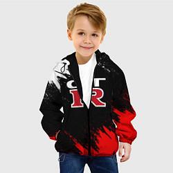 Детская 3D-куртка с капюшоном с принтом NISSAN GTR, цвет: 3D-черный, артикул: 10208574305458 — фото 2