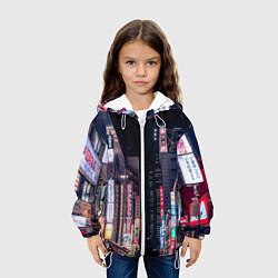 Куртка 3D с капюшоном для ребенка Ночной Токио - фото 2