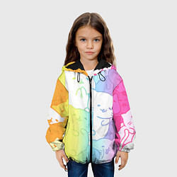 Куртка с капюшоном детская Котоколлаж 05 цвета 3D-черный — фото 2