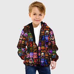 Детская 3D-куртка с капюшоном с принтом Five Nights At Freddy's, цвет: 3D-черный, артикул: 10211300905458 — фото 2
