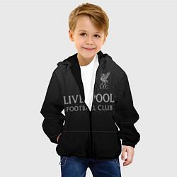 Куртка с капюшоном детская LIVERPOOL цвета 3D-черный — фото 2
