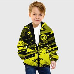 Детская 3D-куртка с капюшоном с принтом Borussia Dortmund, цвет: 3D-черный, артикул: 10261600105458 — фото 2