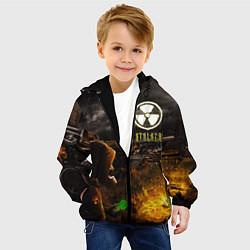 Куртка с капюшоном детская Stalker 2 цвета 3D-черный — фото 2
