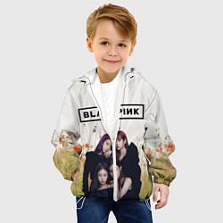 Детская 3D-куртка с капюшоном с принтом BlackPink, цвет: 3D-белый, артикул: 10267890505458 — фото 2