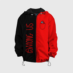 Детская 3D-куртка с капюшоном с принтом Among Us В кармашке, цвет: 3D-черный, артикул: 10276316505458 — фото 1
