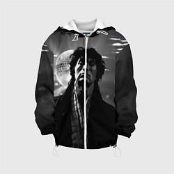 Детская 3D-куртка с капюшоном с принтом ВИКТОР ЦОЙ, цвет: 3D-белый, артикул: 10276700105458 — фото 1