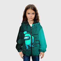 Куртка 3D с капюшоном для ребенка AMONG US - фото 2