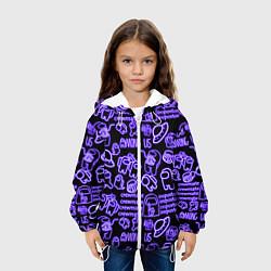 Куртка с капюшоном детская AMONG US NEON цвета 3D-белый — фото 2
