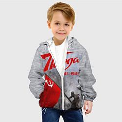 Детская 3D-куртка с капюшоном с принтом 9 мая День победы, цвет: 3D-белый, артикул: 10289900305458 — фото 2