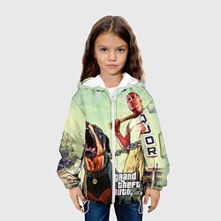 Куртка с капюшоном детская GTA 5: Franklin Clinton цвета 3D-белый — фото 2