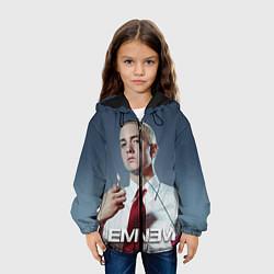 Куртка с капюшоном детская Eminem Fire цвета 3D-черный — фото 2
