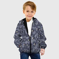 Куртка с капюшоном детская Эмодзи цвета 3D-черный — фото 2