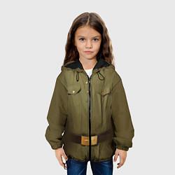 Детская 3D-куртка с капюшоном с принтом Униформа солдата, цвет: 3D-черный, артикул: 10075051105458 — фото 2