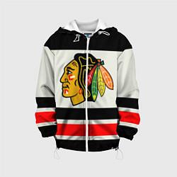 Куртка с капюшоном детская Chicago Blackhawks цвета 3D-белый — фото 1