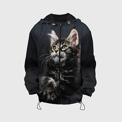 Куртка с капюшоном детская Кошечка цвета 3D-черный — фото 1