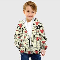 Куртка с капюшоном детская Любящие котики цвета 3D-белый — фото 2