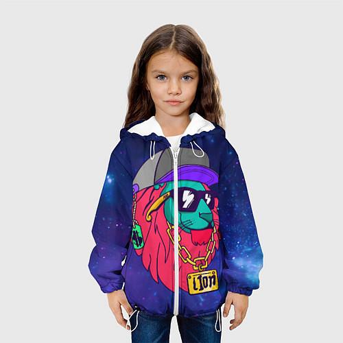 Детская куртка Лев SWAG / 3D-Белый – фото 3