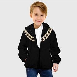 Куртка с капюшоном детская Золотая цепь цвета 3D-черный — фото 2