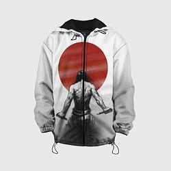 Детская 3D-куртка с капюшоном с принтом Ярость самурая, цвет: 3D-черный, артикул: 10083892105458 — фото 1