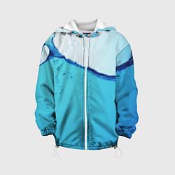 Куртка с капюшоном детская Вода цвета 3D-белый — фото 1