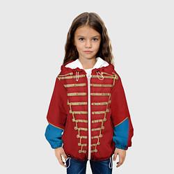 Детская 3D-куртка с капюшоном с принтом Пиджак Майкла Джексона, цвет: 3D-белый, артикул: 10085237305458 — фото 2