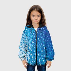 Детская 3D-куртка с капюшоном с принтом Капли воды, цвет: 3D-черный, артикул: 10085377105458 — фото 2