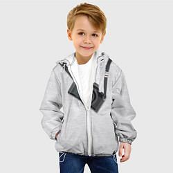 Куртка с капюшоном детская Фотоаппарат на груди цвета 3D-белый — фото 2
